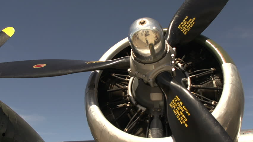 CALGARY, ALBERTA - CIRCA 2012: aircraft, B17 Flying Fortress bomber pan