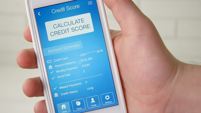 Checking credit score on smartphone using application. The result is EXCELLENT | Shutterstock HD Video #28508308