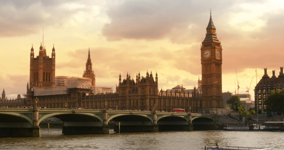 London Sunset big ben iconic landmark Palace of Westminster Parliament