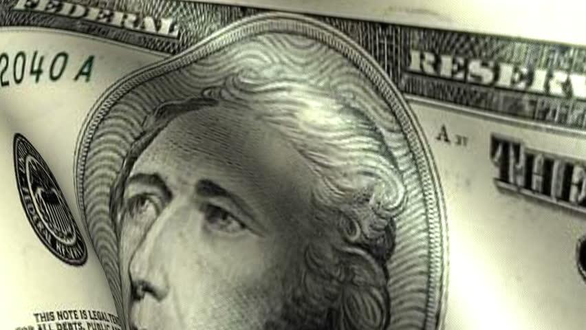 Ten Dollars Flag Waving   Shutterstock HD Video #2854948