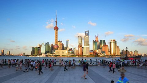 "SHANGHAI - CIRCA OCT 2012: Timelapse(Hyper-move) of Shanghai Pudong viewed from the Bund circa October 2012 in Shanghai, China.   - - - ( Please search more: "" ShanghaiSkyline "" )"