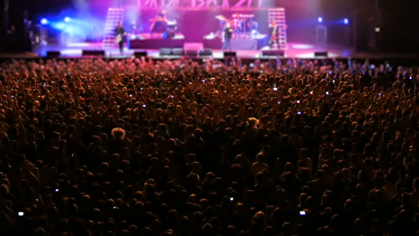 Cheering Crowd at Concert | Shutterstock HD Video #28679275