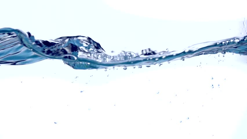 Water surface wave, water waves splash. Waving and Splashing fresh water close up. Underwater. 4K video footage, slow motion 240 fps, 3840X2160