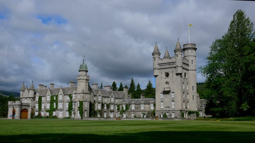 Time lapse on Balmoral Castle