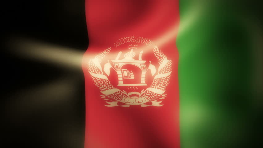 Afghanistan, Flag,  An elegant animation of the Worlds flags, Using a 32bpc pipeline these are high quality animations. Ideal as backgrounds or as icon overlays on TV and the Web.