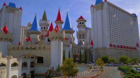 Beautiful Excalibur Hotel and Casino in Las Vegas - LAS VEGAS / NEVADA - APRIL 24, 2017