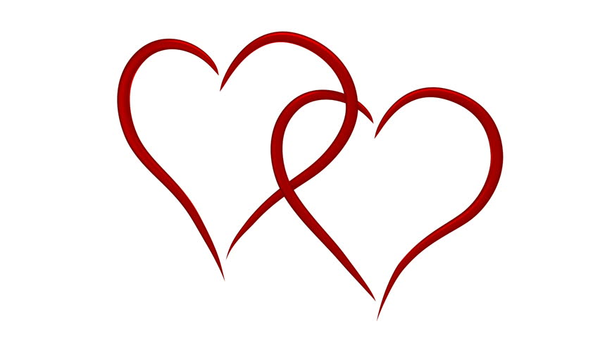 Line Drawing Heart Shape : Love and wedding concept red ribbon moving in the shape