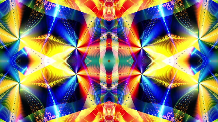 Blue kaleidoscope sequence patterns. Abstract multicolored motion graphics background. Or for yoga, clubs, shows, mandala, fractal animation. Beautiful bright ornament. Seamless loop. | Shutterstock HD Video #28838728