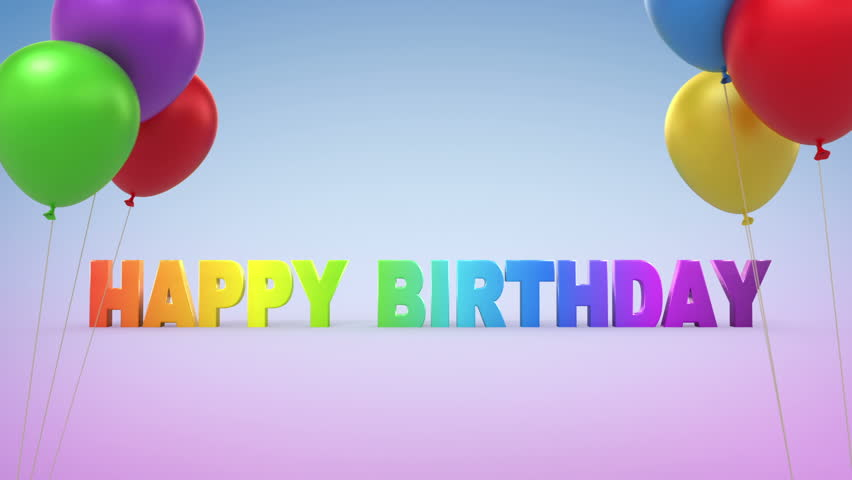 Happy Birthday, 3d animation