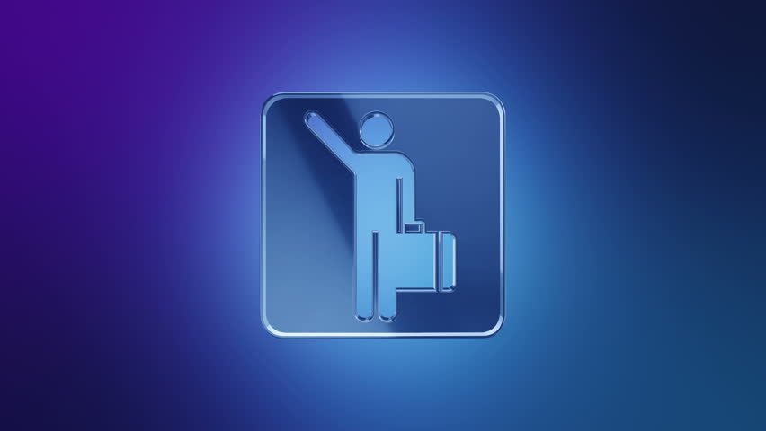 3D Animation rotation of symbol of vacation, holiday, travel and inventory for travel from glass. Animation of seamless loop. | Shutterstock HD Video #28885768
