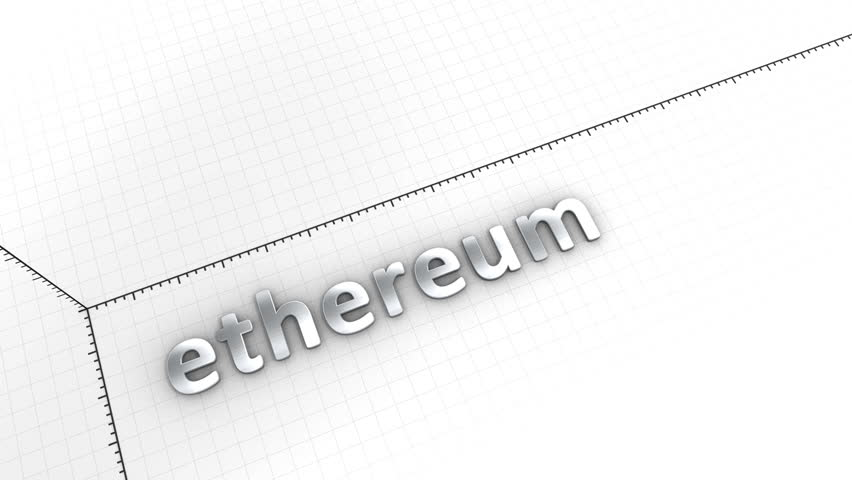 Computer generated, Growing chart cryptocurrency Ethereum.