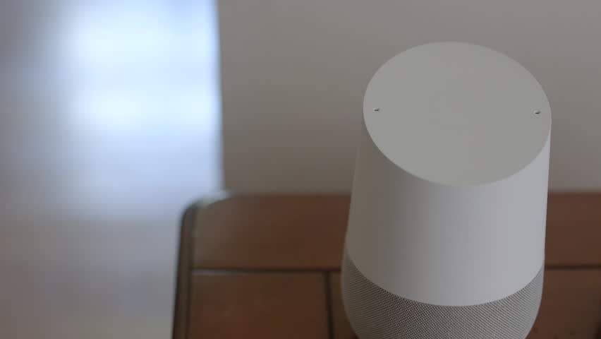 Smart Home Voice Controlled Gadget Responding To Command | Shutterstock HD Video #28941823