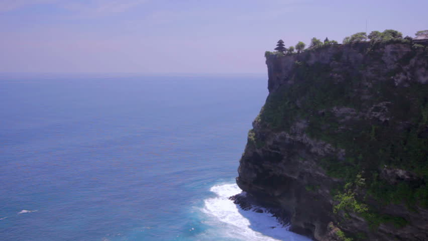uluwatu temple and cliff and ocean view Bali, Indonesia