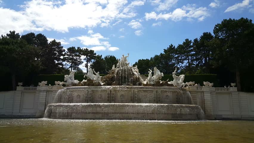 Neptune Fountain at Schonbrunn Palace, Vienna