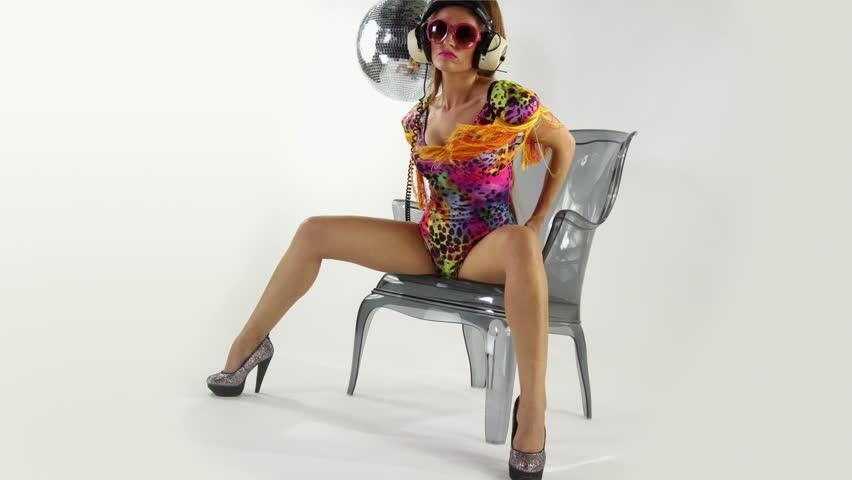 beautiful professional gogo dancer studio shoot
