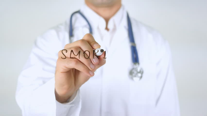 Smoking, Doctor Writing on Glass | Shutterstock HD Video #29038648