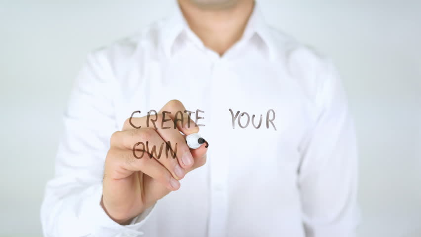 Create Your Own Story, Man Writing on Glass | Shutterstock HD Video #29056366
