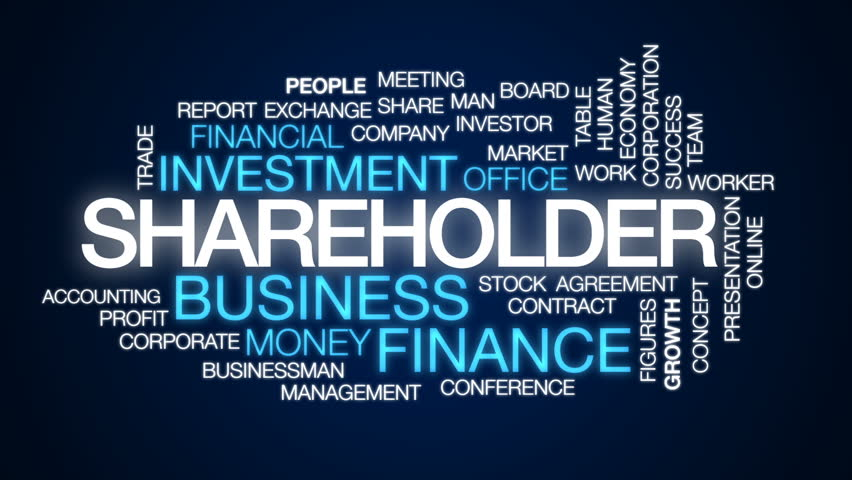 Shareholder animated word cloud, text design animation.   Shutterstock HD Video #29082808