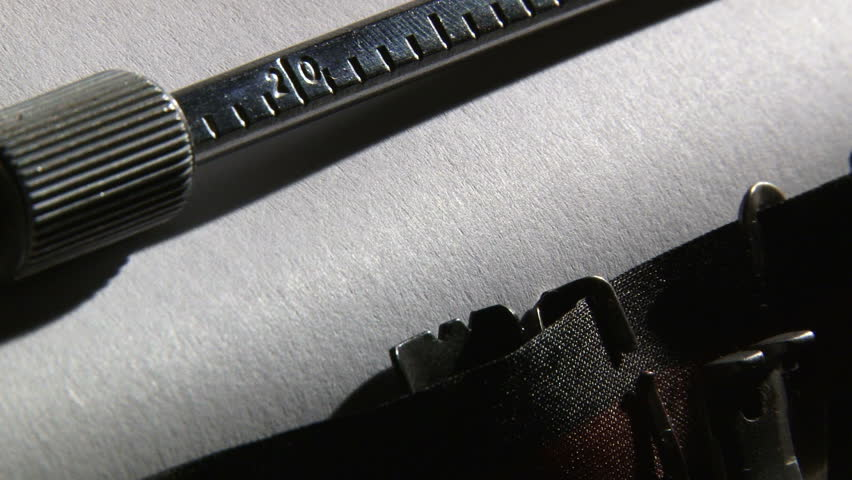 Typewriter, The end - 2 clips sequence