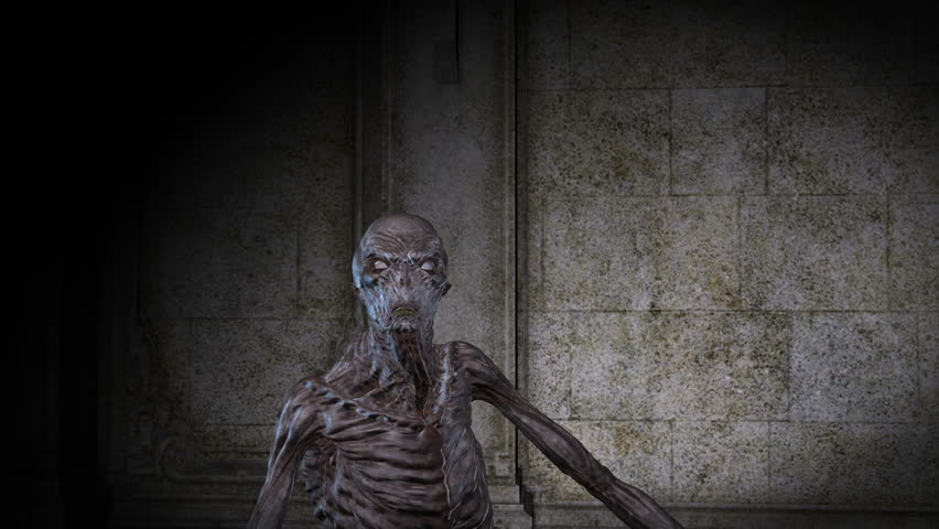 Digital 3D Animation of creepy Ghoul  | Shutterstock HD Video #29142778
