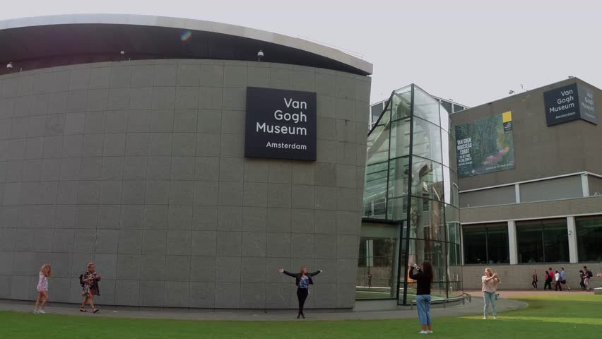 Van Gogh Museum in Amsterdam at Museums Square - AMSTERDAM / NETHERLANDS - JULY 20, 2017