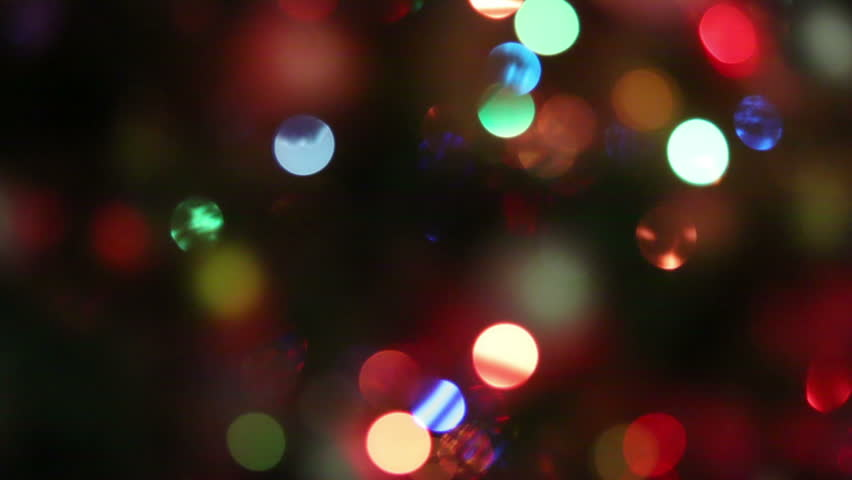 abstract background of twinkling lights in motion hd stock video clip - Christmas Lights Video