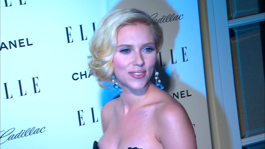 Los Angeles, CA - OCTOBER 15, 2007: Scarlett Johansson, walks the red carpet at the Elle Women in Hollywood 2007 held at the Four Seasons Hotel