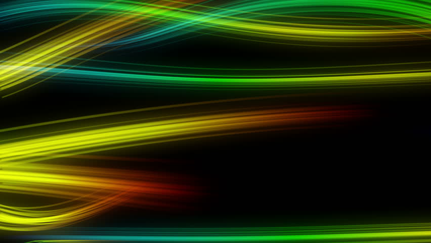 Colorful Swirly Streaks of Lights Moving Horizontally Seamless Looping Motion Background Rainbow Colors
