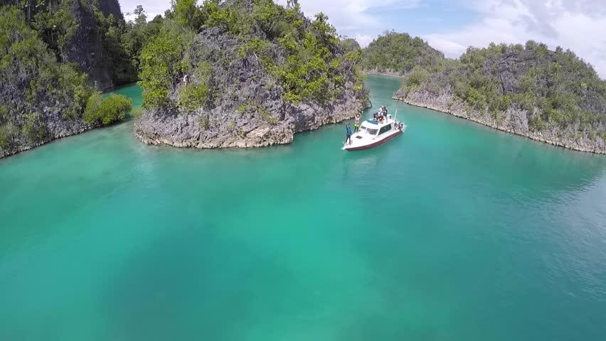 Beautiful rock island, unique atoll and pristine coral reef   Shutterstock HD Video #29470168