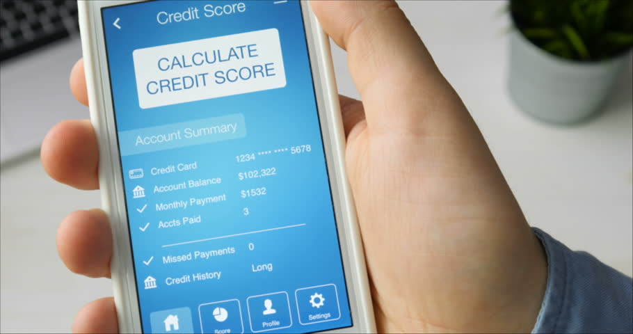 Checking credit score on smartphone using application. The result is POOR | Shutterstock HD Video #29520778