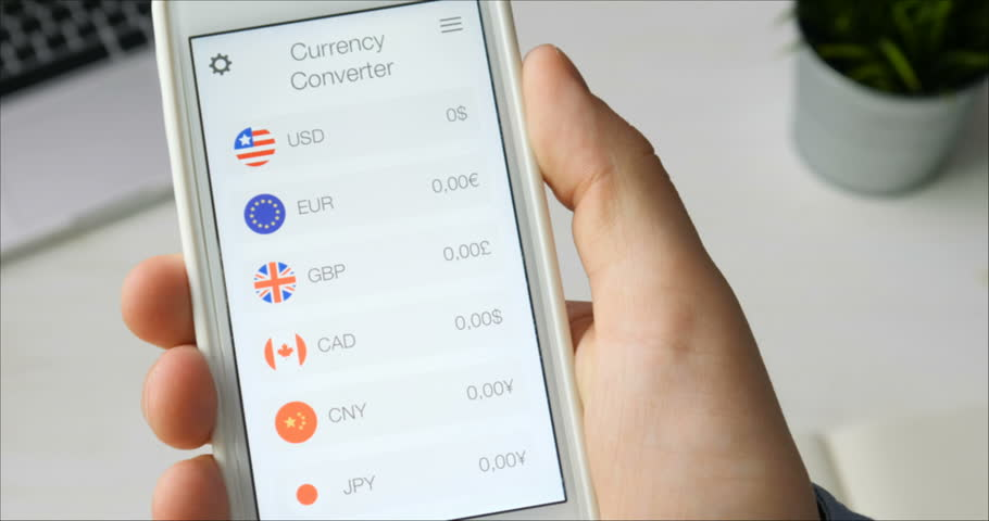 Using Currency Converter App On Stock Footage Video (100% Royalty-free)  29520838   Shutterstock