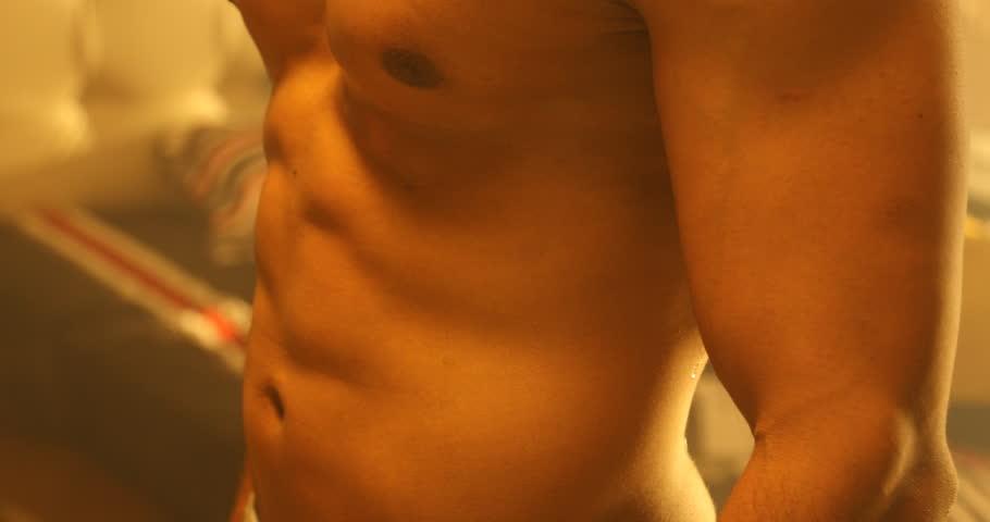 Male Bodybuilder muscular in the gym   Shutterstock HD Video #29549068