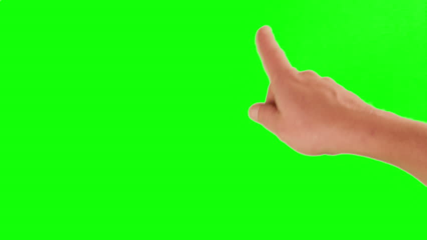 Set of hand gestures, showing the uses of computer touchscreen, tablet, trackpad or ipad. Full HD with green screen. modern technology, 1080p, 1920x1080