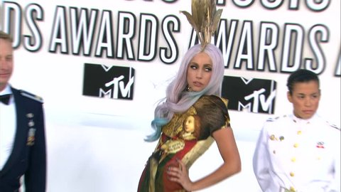 Los Angeles, CA - SEPTEMBER 12, 2010: Lady GaGa walks the red carpet at the MTV Video Music Awards 2010 held at the Nokia Theatre