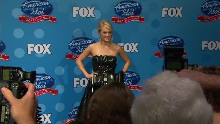 Pasadena, CA - APRIL 21, 2010: Carrie Underwood, walks the red carpet at the Idol Gives Back 2010 held at the Pasadena Civic Center