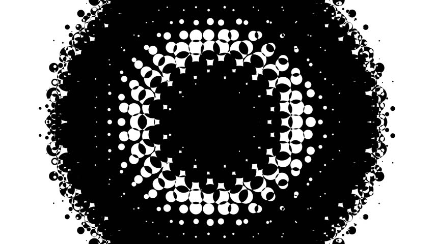Dynamic black and white composition. Halftone element. 4K.