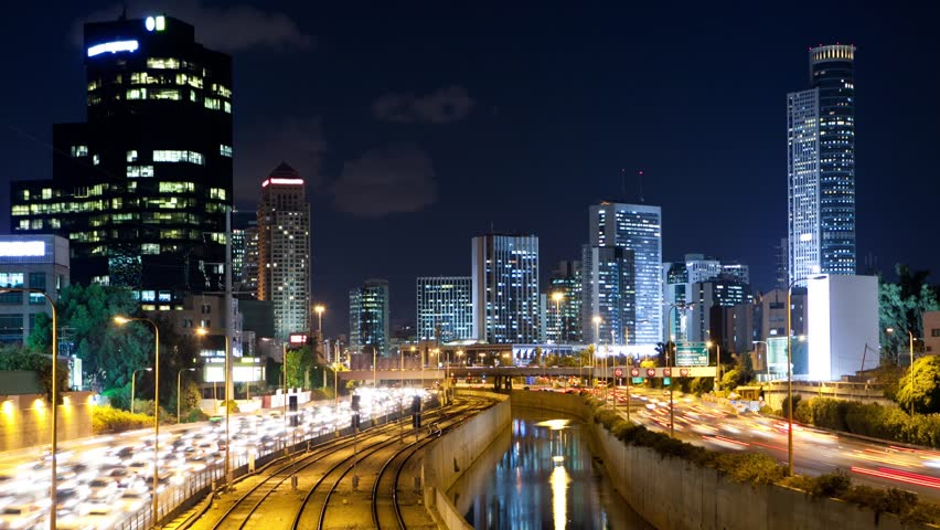 Traffic Time Lapse in Tel Aviv - Ayalon Freeway