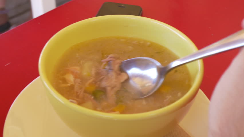 Fish soup stew in a bowl for lunch