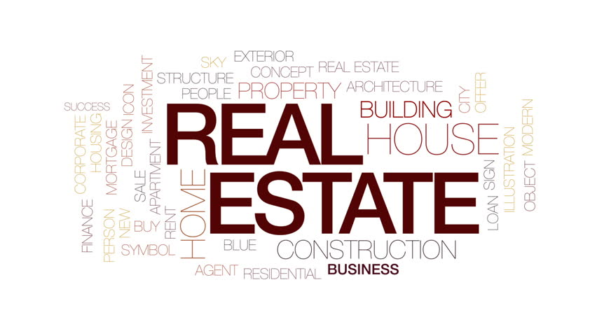 Real estate animated word cloud, text design animation. Kinetic typography. | Shutterstock HD Video #29783968