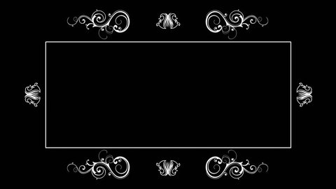 Old Silent Film Style Text Frame. Film projector flickering background. Place for your text. Two options in one file. A film with scratches and without.
