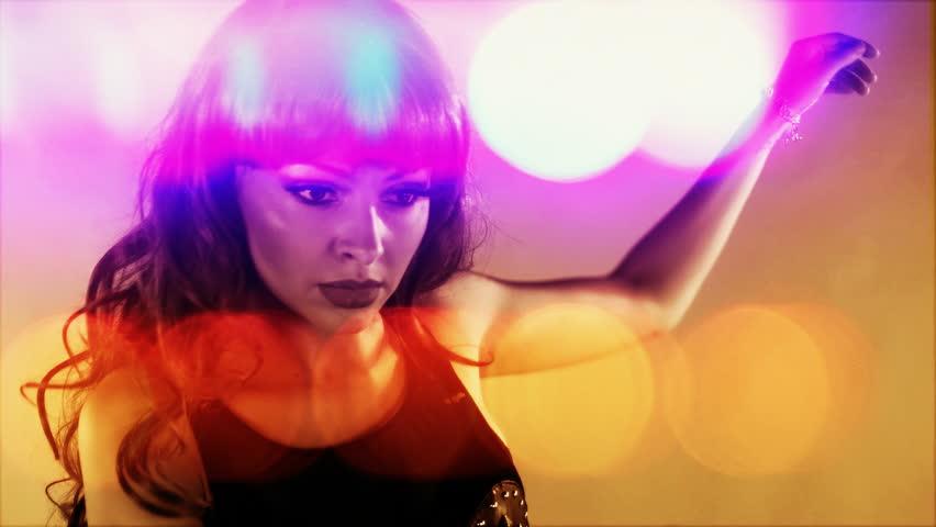 beautiful professional gogo dancer, studio shoot