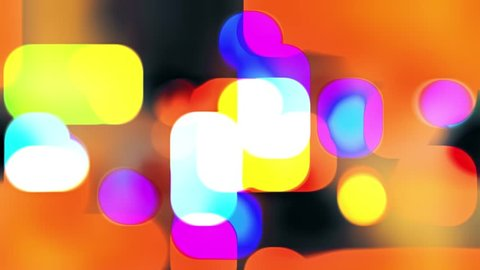 abstract soft blured color lights retro style animation background New quality universal motion dynamic animated smooth colorful red orange yellow blue green black violett joyful dance music video