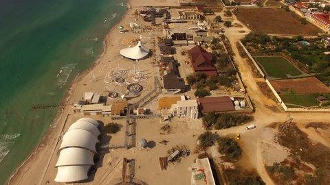 AERIAL VIEW. Beach Territory Of Famous Festival Kazantip/Befooz
