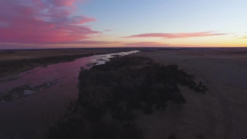 Drone Flying Backwards From River   Shutterstock HD Video #29908855