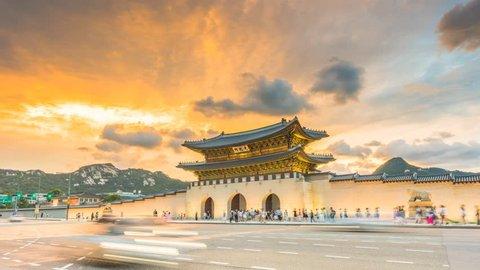 Time lapse of Gyeongbokgung palace