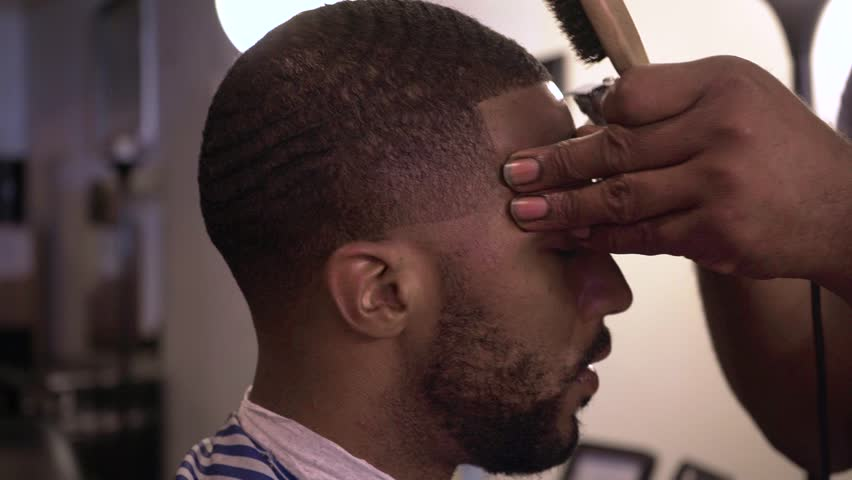 African America Barber Haircut Slow Motion | Shutterstock HD Video #29930728