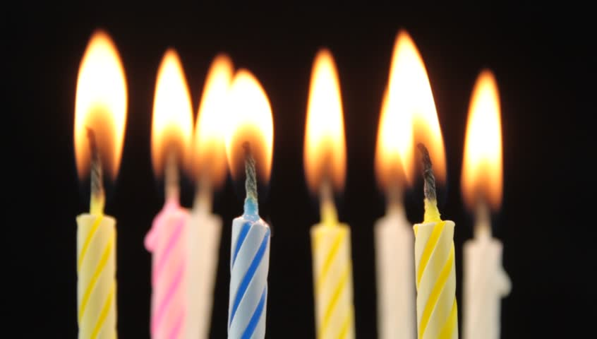 Happy Birthday Candles On Cake Image Image Free Stock
