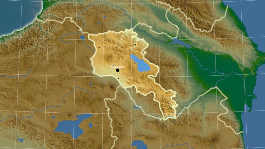 The Turkmenistan Area Map In The Azimuthal Equidistant Projection - Turkmenistan physical map