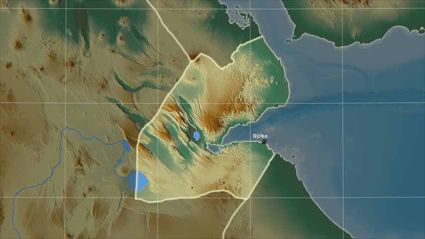 The Djibouti Area Map In The Azimuthal Equidistant Projection