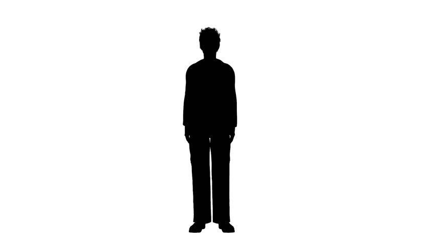 silhouette of business man walking